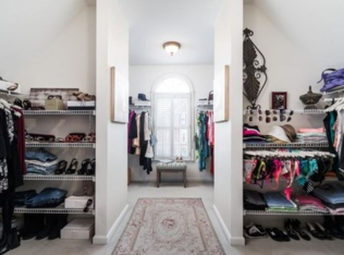 "One of the most organized closets I've ever seen. Most of the clothing is gently used, size ""S"" or ""PS"",  Anne Taylor quality or better."