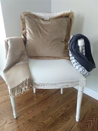 Nice French bergere armchair, with cane back.