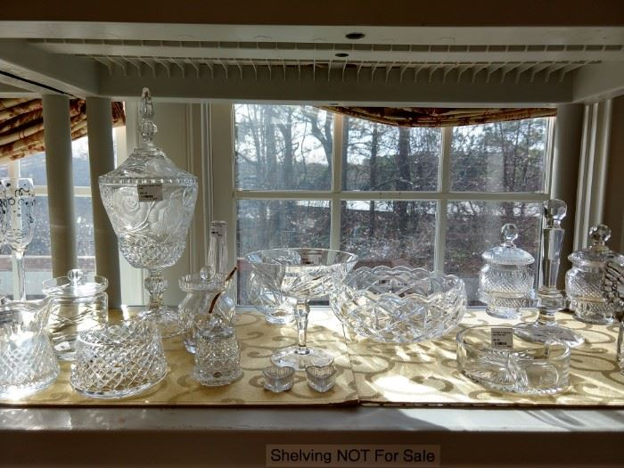 Waterford and vintage cut crystal thingys.