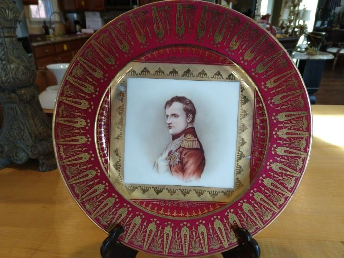 Hand painted Victoria Carlsbad (Austria) plate, by Ferrier.