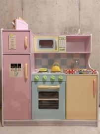 "Kid Kraft ""Uptown Pastel Play Kitchen"", measures 43"" x 17.75"" x 41"", with all accessories."