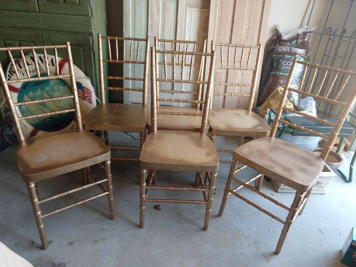 "Party on Duxford, or it can be in your house as well.      Set of 6 ""ballroom"" chairs (don't ask) can be yours for a pittance."