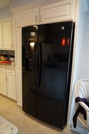 Black Side by Side Refrigerator