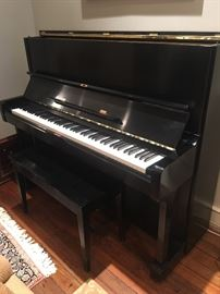 Yamaha U1 piano and bench (plenty of sheet music too!)