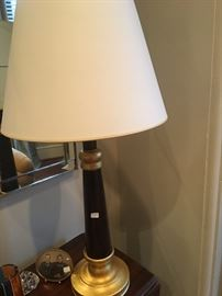Painted wood lamp