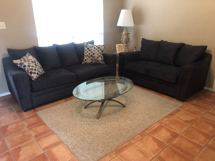 New Loveseat and sofa