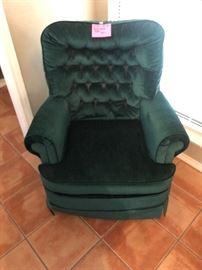 Green swivel rocker chair
