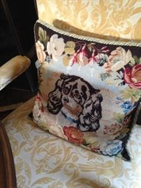 The other adorable needlepoint dog pillow