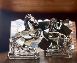 WATERFORD Crystal rearing horses