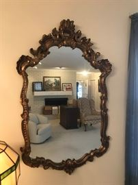 #6Gold Framed Mirror   28x47 $50.00