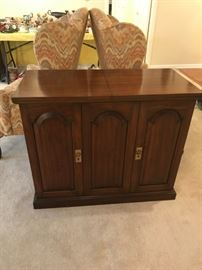 #12Wood Flip-top Server w/2 door and 2 pull-out drawers $175.00