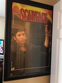 scarface framed posters !