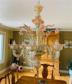 Venetian glass hand blown chandelier