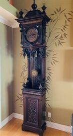European grandfather clock
