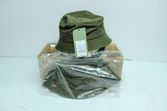 LOT OF 2 M L HATS OLIVE