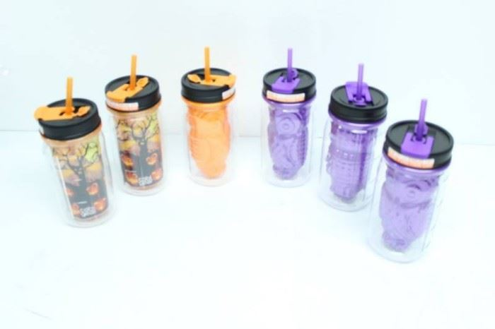 LOT OF 6 NEW MIX HALLOWING CUPS