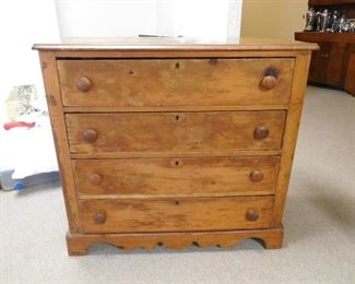 Ca. 1860 4 Drawer Chest