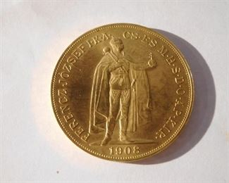 1908 Hungary 100 Gold Korona