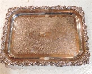 Baroque Tray by Wallace -- Sterling - 56.66 Troy Ounces