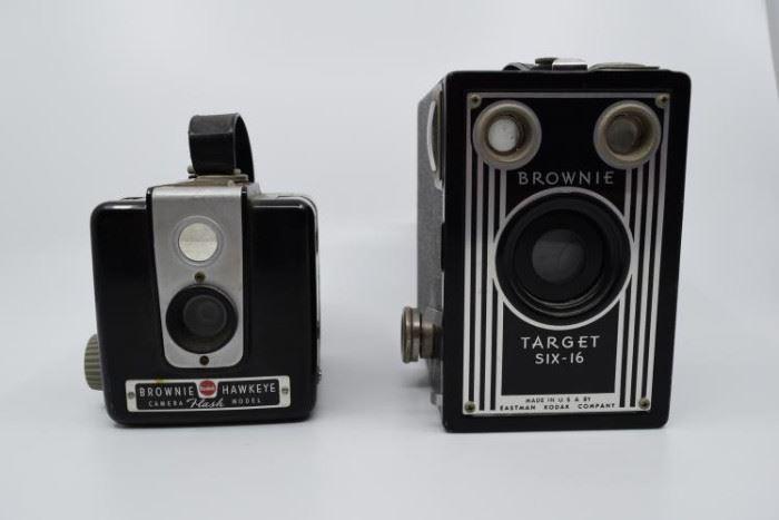 Pair of Antique Kodak Brownie Target Six-20 Box Cameras               https://ctbids.com/#!/description/share/101249