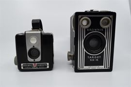 Pair of Vintage Kodak Brownie Box Cameras https://ctbids.com/#!/description/share/101263