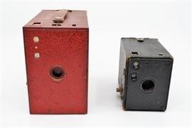 Pair of Antique Kodak Brownie Box Cameras https://ctbids.com/#!/description/share/101264