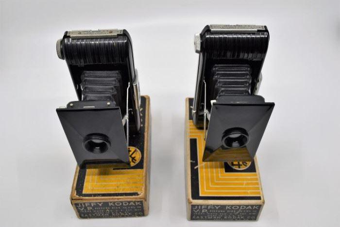 Pair of Antique Jiffy Kodak V.P. Pocket Cameras https://ctbids.com/#!/description/share/101268
