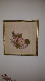 Silk style floral pictures