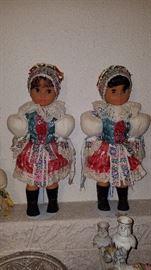 Pair of Czechoslovakian dolls