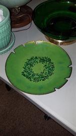 Enamel on copper plate