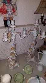 Pair of cherub candle sticks