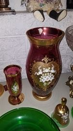 Purple Czech glass