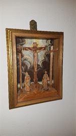 Carved deep frame