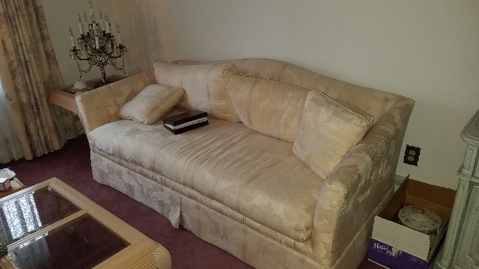 Brocade style couch (sleeper) very clean