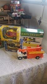 NYSEG trucks, John Deere plane