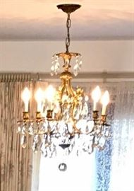 Chandelier has all it's crystals