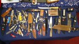 Case, Schrade, Buck, Western, military and more. 100 knives
