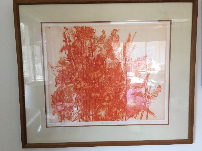 """""""Bouquet"""" Etching by H. Sceleiaro (signed & numbered)"""