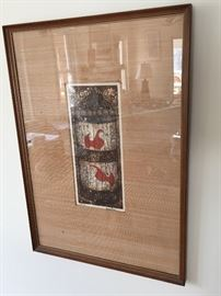 A Colored Intaglio Etching by artist John Hamilton (hand signed & numbered,1975)