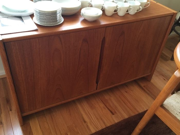 Mid-century Teak Sideboard with pair of doors at front.