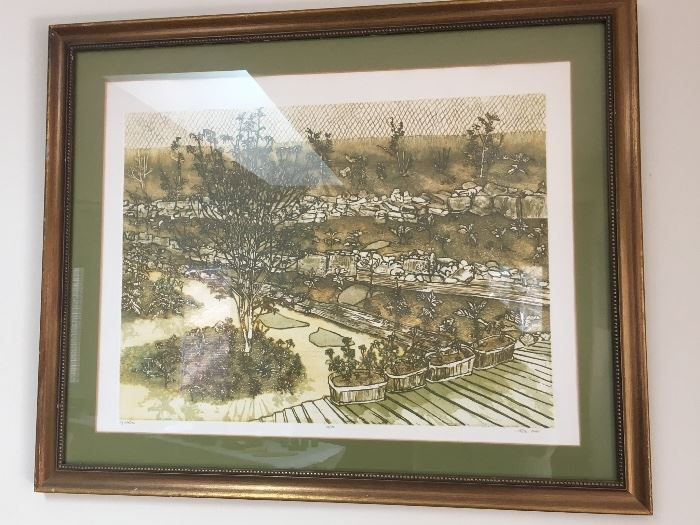 """""""My Garden"""" Etching by artist Ruth Leaf (signed & numbered)"""