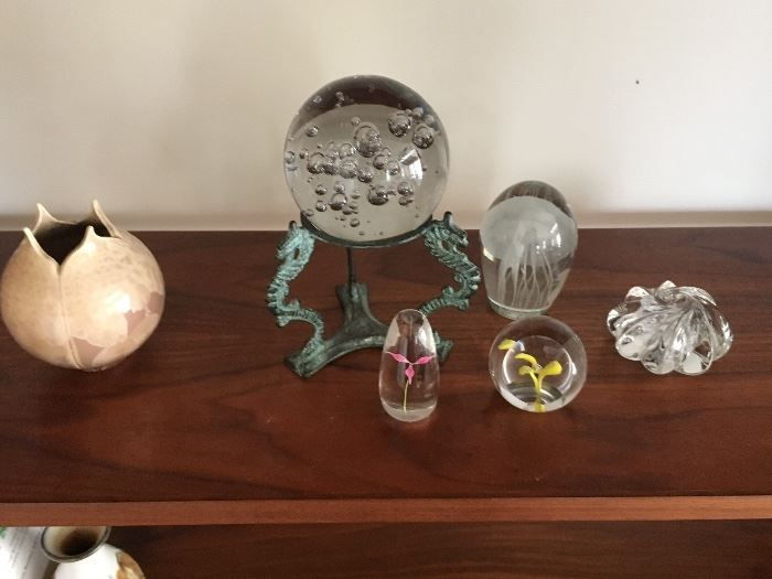 Small collection of interesting Crystal Paperweights