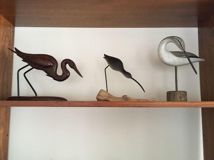 Assortment of Carved Shore Birds