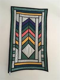 Graphic handmade Quilt