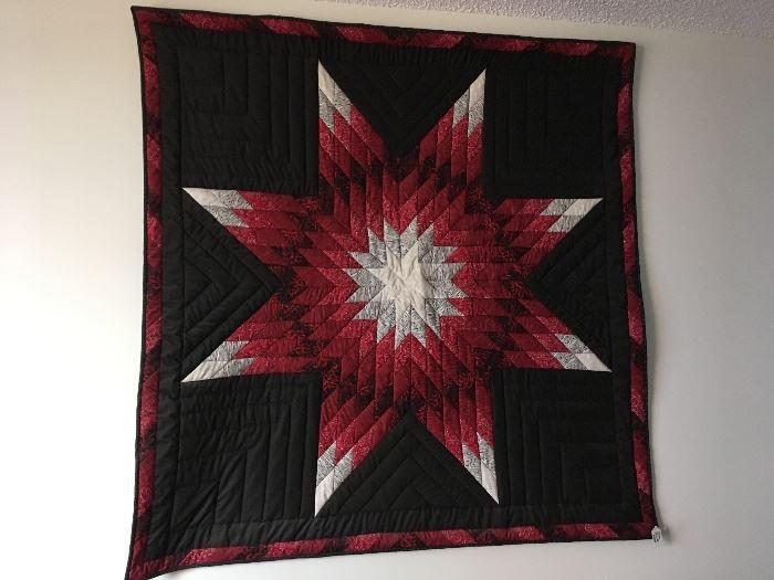 Large square handmade Star Quilt
