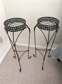 Pair of metal Plant Stands