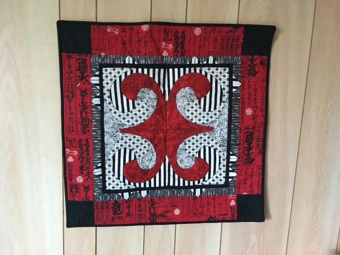 Square red & black Quilt