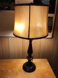 Metal Table Lamp with 2 bulbs