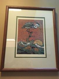 Framed Batik of Stork