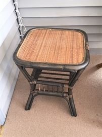 Pair of matching Side Tables with woven tops